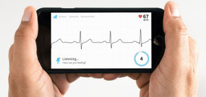 Mobile showing ECG